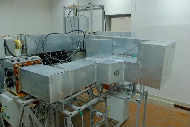 Натриевый контур БНК с надетыми термокожухами (ИМСС УрО РАН)
